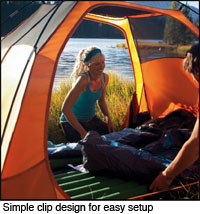 Eureka backpacking tent